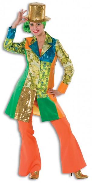 Bunter Glamouröser Damen Mantel