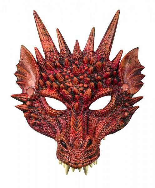 Rote Höllendrachen Maske