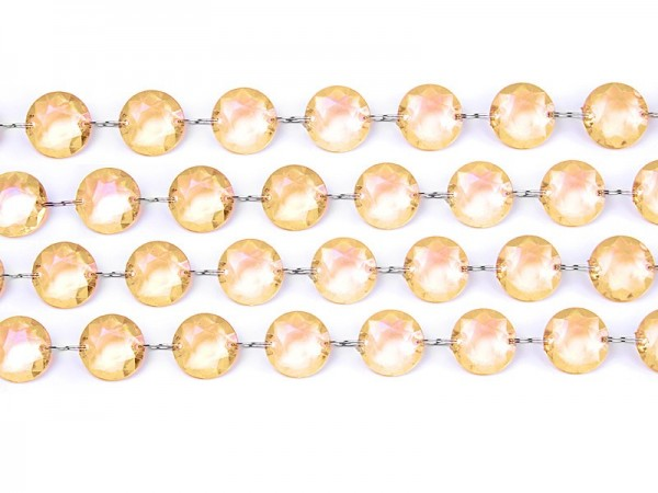 Cintre en cristal de perles or 1m