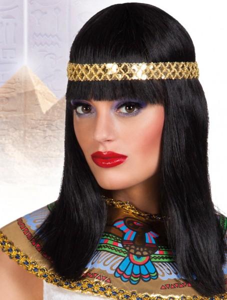 Pharaonin Perücke Schwarz