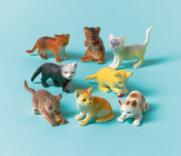 Figurki Cute Baby Cats do toreb na prezenty 12 sztuk