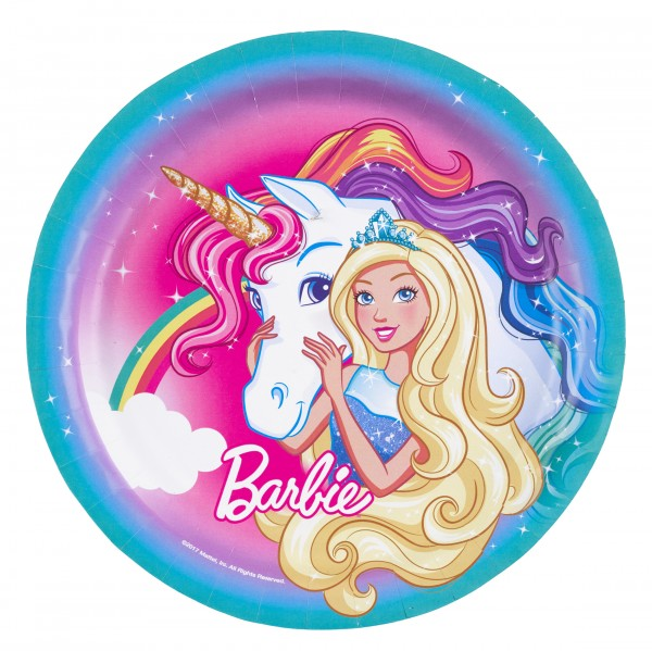 8 Barbie-Dreamtopia Teller 23cm