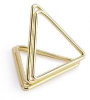 10 Dreieck Kartenhalter gold