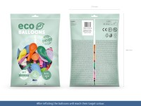 100 Eco Pastell Ballons bunt 30cm