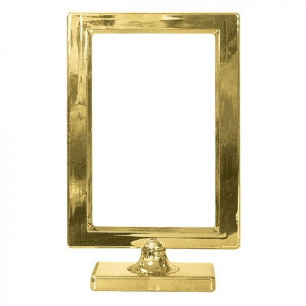 Golden frame table decoration 19.5cm