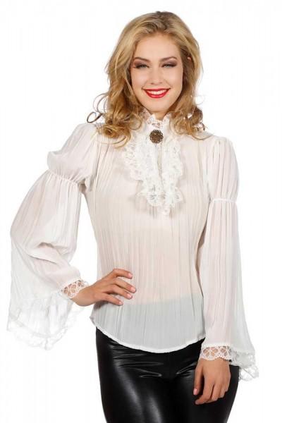 Blusa barroca para mujer blanca