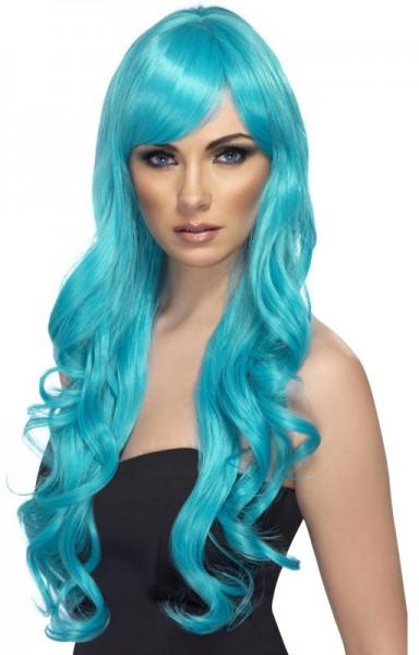Meerjungfrauen Perücke Aquablau