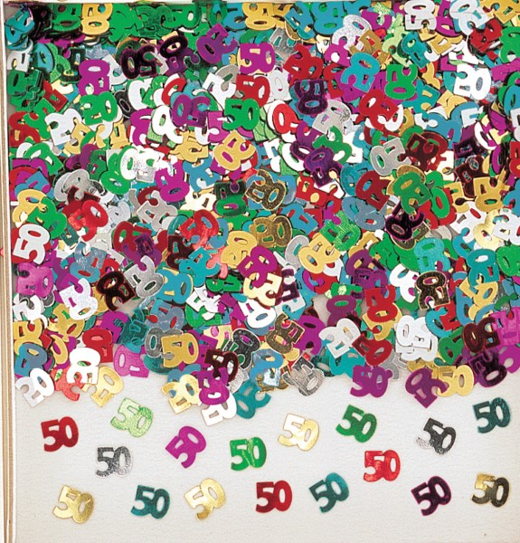 50e anniversaire arc-en-ciel décoration saupoudrer coloré métallique