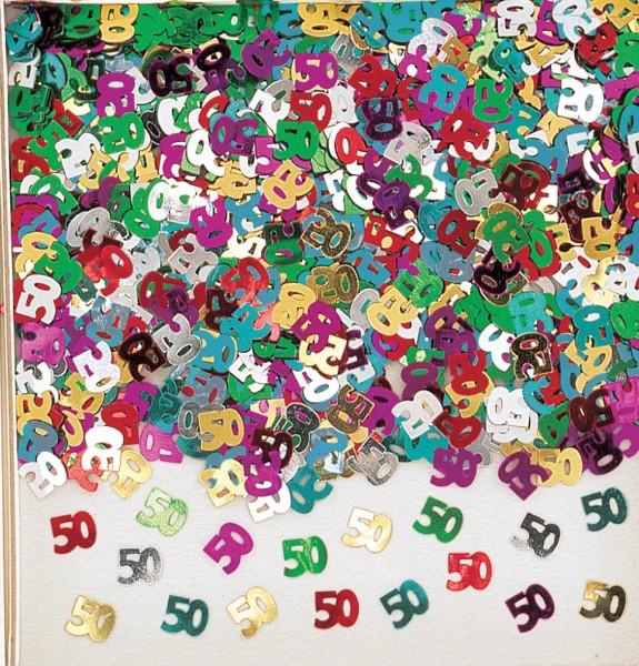 50th birthday rainbow party sprinkle decoration colorful metallic