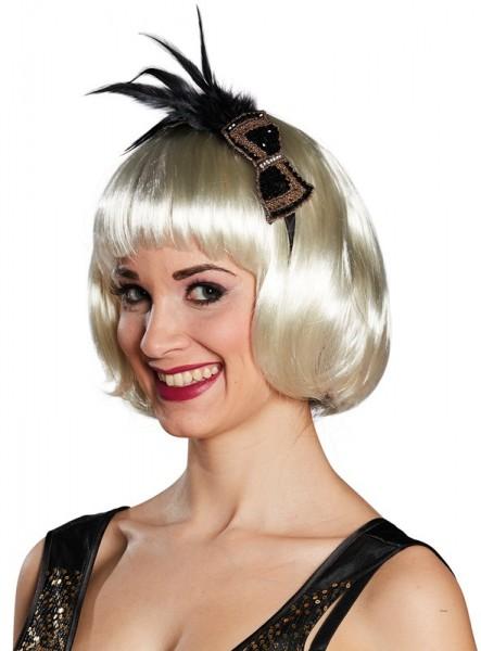 Eleganter 20er Jahre Haarreif mit Federn
