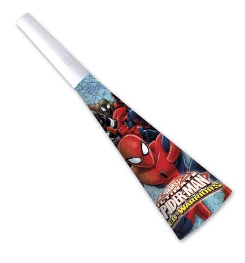 6 Spiderman Web Warriors Tröten 20cm