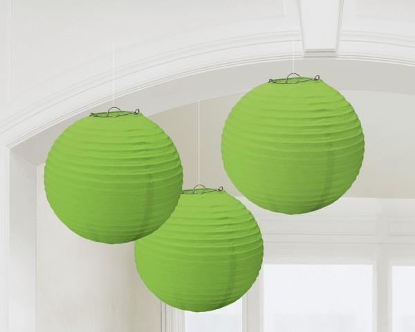 3 Summer Tale Chinese lanterns light green 20cm