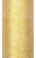 Glitzer Tüll Estelle gold 9m x 15cm