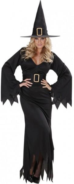 Schwarzes Zauberhexe Damenkostüm