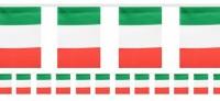 Italien Wimpelkette Tricolore 6m