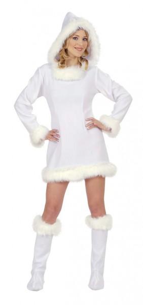 Śnieżnobiały kostium Eskimosa damski