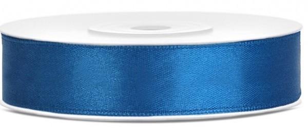 Ruban cadeau satin bleu 25m largeur 12mm