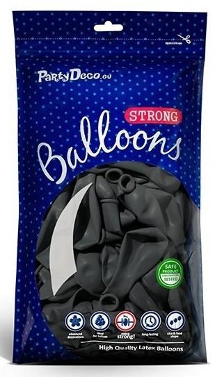 50 Partystar Luftballons anthrazit 27cm