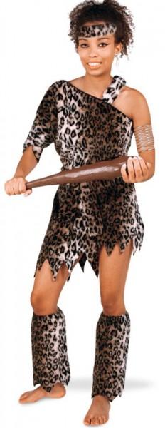 Fluffy Leo stenen tijdperk kostuum voor dames