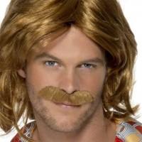 Perruque homme trooper des années 70 avec moustache