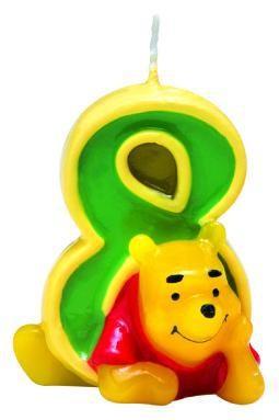 Winnie Puuh Happy Birthday Kerze 8. Geburtstag
