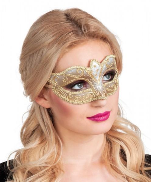 Verzierte Venezianische Maske Gold