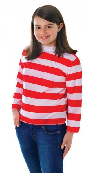 Koszula dziecięca w czerwono-białe paski
