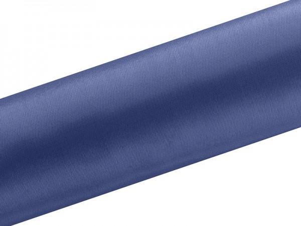 Tela de raso Eloise azul oscuro 9m x 16cm