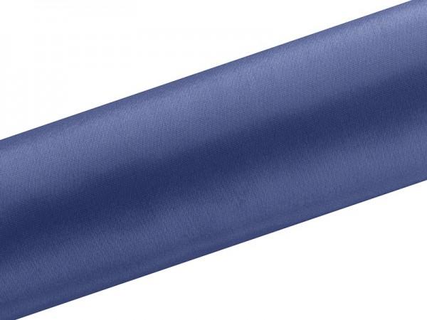 Satin Stoff Eloise dunkelblau 9m x 16cm