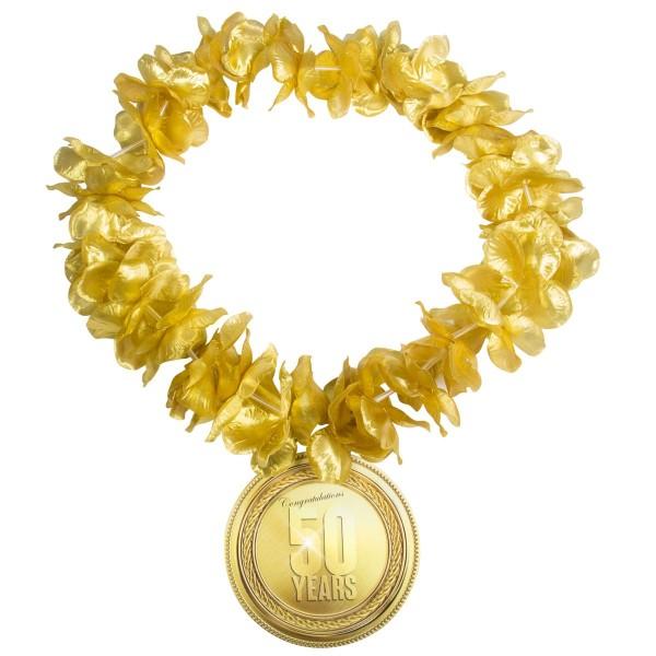 Cadena de fiesta 50 años oro