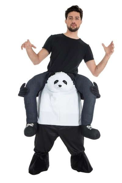 Sterk Panda-piggyback-kostuum