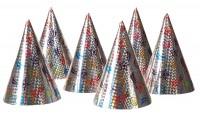 6 Sternschnuppen Partyhüte 16cm
