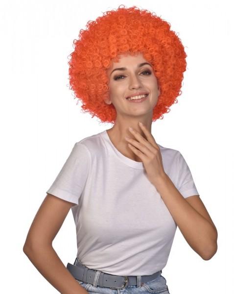 Perruque Afro Carnival orange