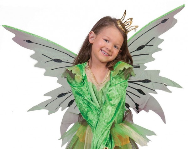 Green elven wings