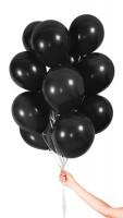 30 Ballons mit Band schwarz 23cm