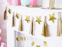 Goldene Sternenhimmel Girlande 1,3m