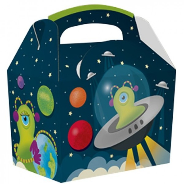 Kompostierbare Alien Geschenkbox 15cm