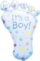 Babyfuß Folienballon Boy