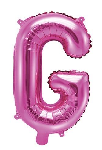 Foil balloon G fuchsia 35cm