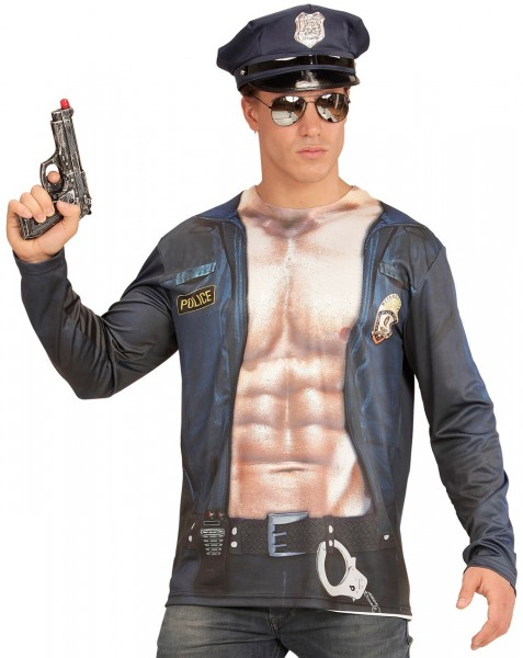Chemise homme sexy police