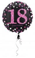 Pink 18th Birthday Folienballon 43cm