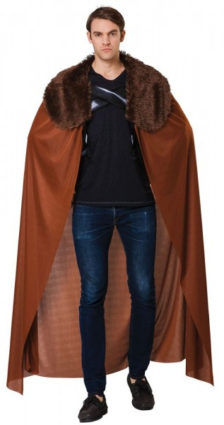 Brown nobleman cloak with fur collar