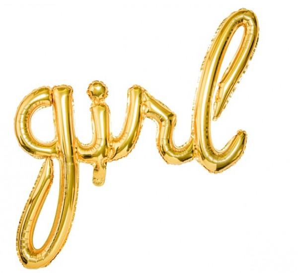 Girl foil balloon gold 77 x 70cm