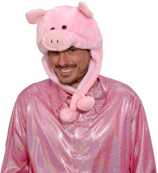 Schweinchen Rosa Mütze