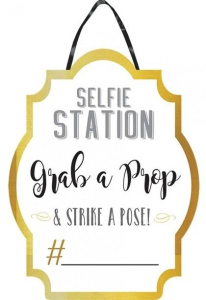 Selfie Station Schild 38 x 48cm