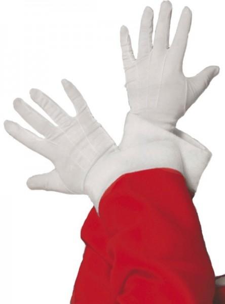 Weiße Weihnachtsfrau Handschuhe