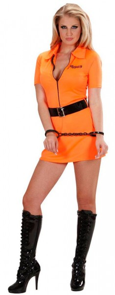 Sexy convict costume for women