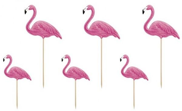 6 Tortendeko Flamingos Kohakai 15 bis 23,5cm