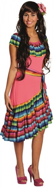Buntes Mexiko Kleid Sheila