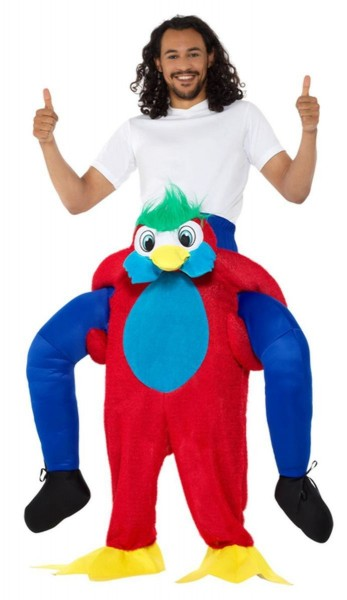 Papegaai Peppo piggyback kostuum